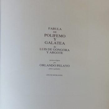 PELAYO, Orlando_Fábula de Polifemo y Galatea