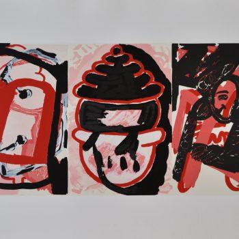 GORDILLO_3 rostros rojos